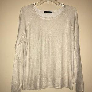 Zara Cream / Gold Metallic Sweatshirt